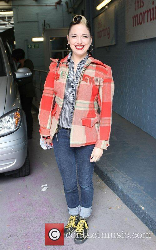 Imelda May outside the ITV studios London, England