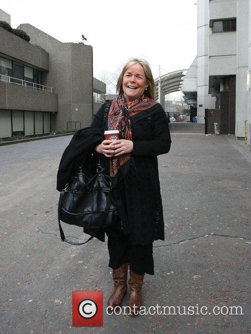 Outside the ITV studios after appearing on GMTV