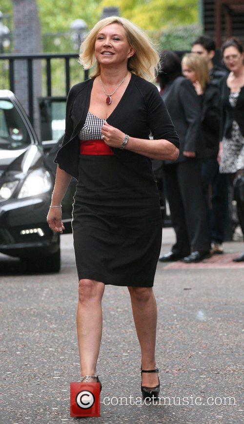 Amanda Redman outside the ITV studios London, England