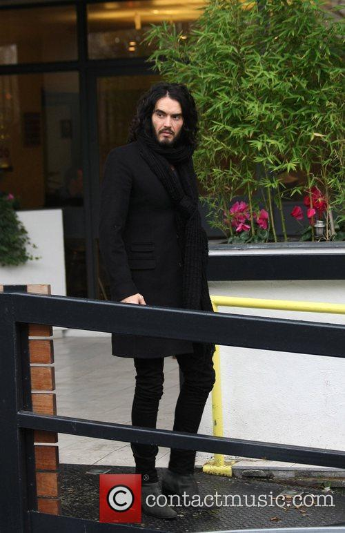 Russell Brand leaving the ITV studios