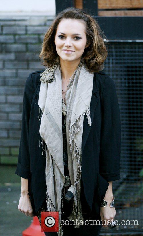 Kara Tointon outside the ITV studios London, England