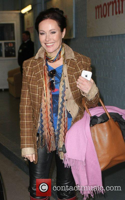 Amanda Mealing Celebrities outside the ITV television studios....
