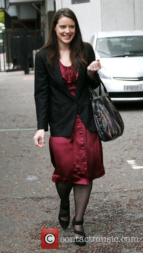 Michelle Ryan outside the ITV studios London, England