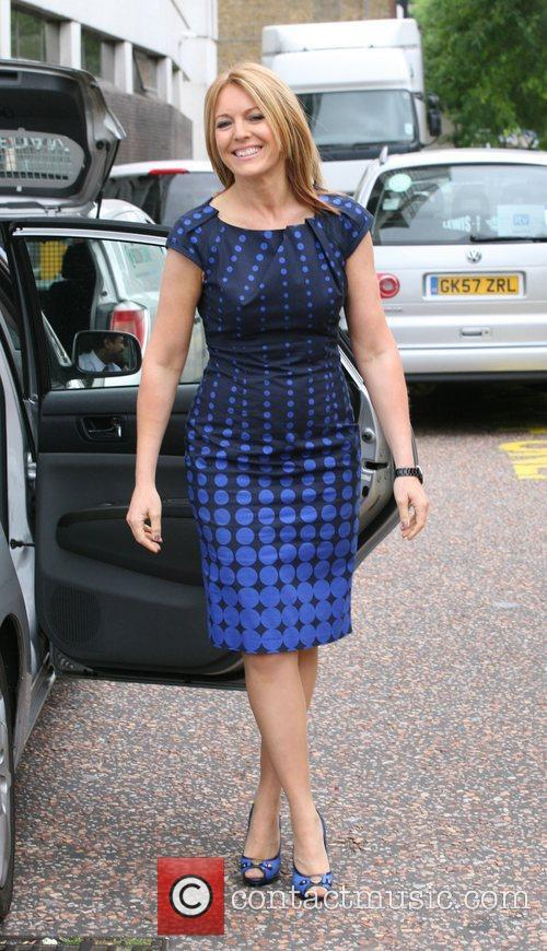 Helen Fospero Celebrities outside the ITV television studios....