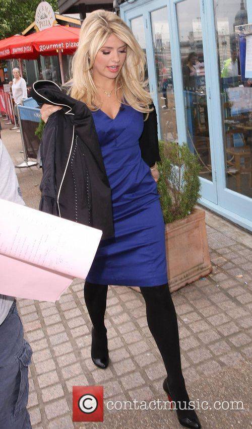 Holly Willoughby after leaving the ITV studios London,...