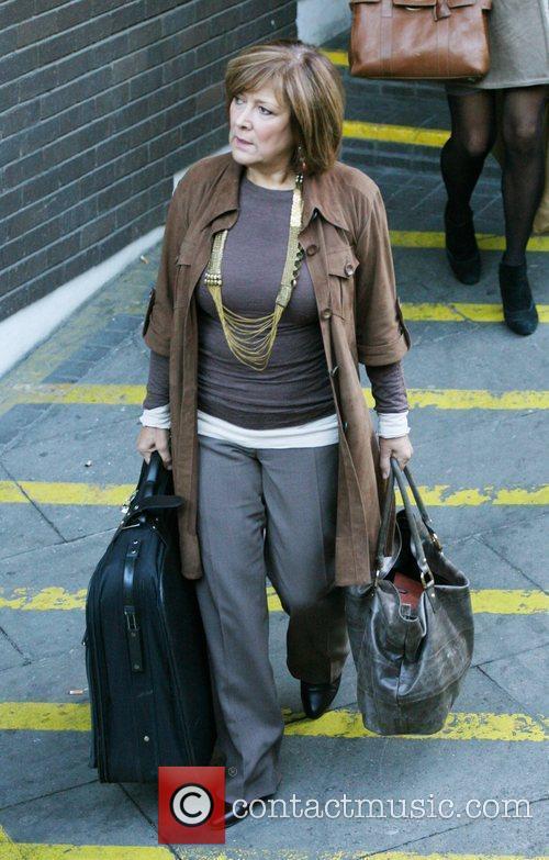 Lynda Bellingham outside the ITV studios London, England