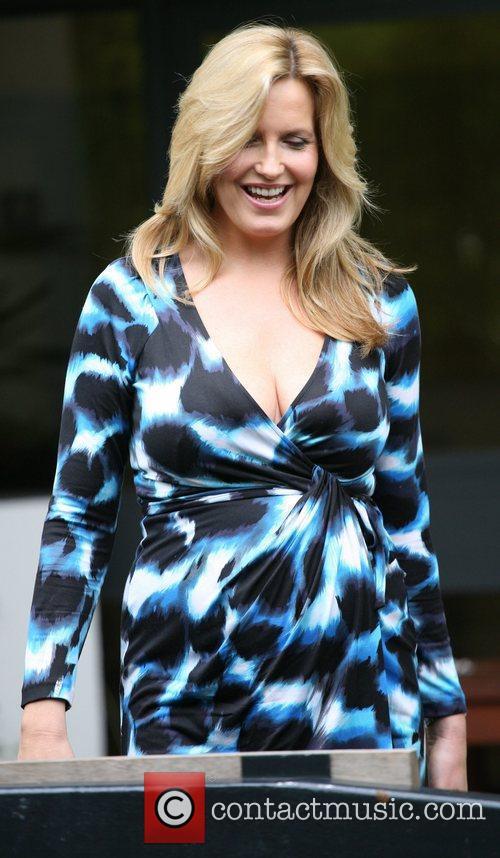 Pregnant Penny Lancaster outside the ITV studios London,...