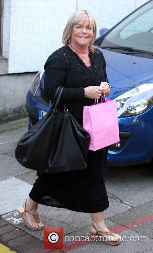 Linda Robson leaving the ITV studios London, England