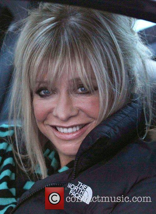 Jo Wood Celebrities outside the ITV television studios....