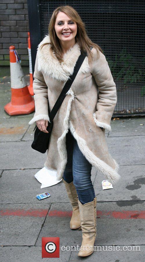 Carol Vorderman Celebrities outside the ITV television studios....