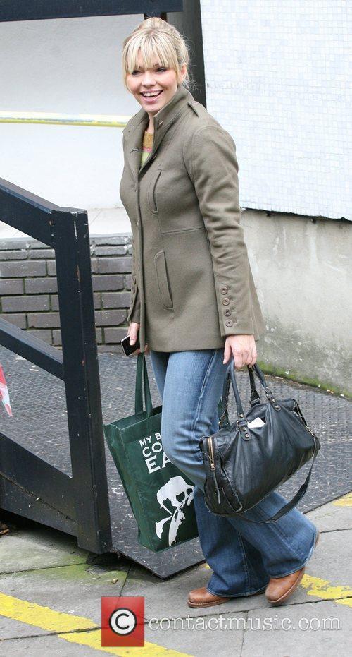 Kate Thornton Celebrities outside the ITV television studios....