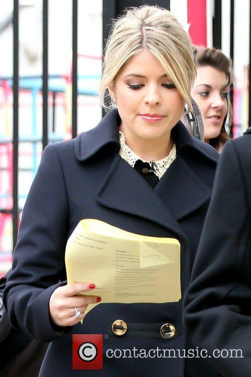 Holly Willoughby reading outside ITV studios London, England