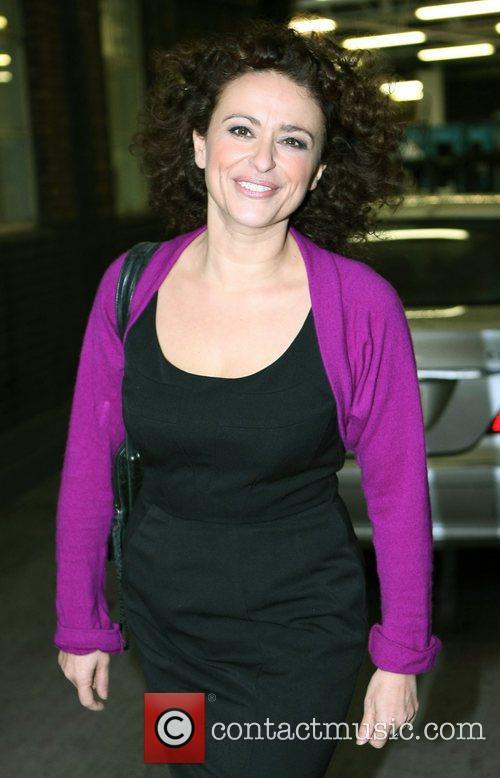 Nadia Sawalha outside the ITV studios London, England