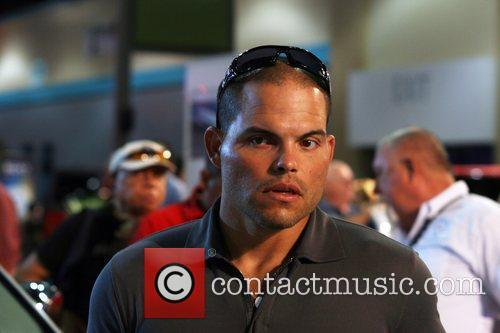 Major League catcher Ivan Rodriguez at the PR...