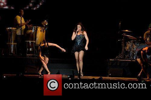 Performing at the American Airline Arena
