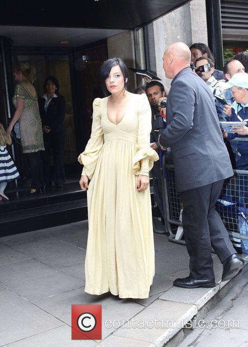 Lily Allen The Ivor Novello Awards at Grosvenor...