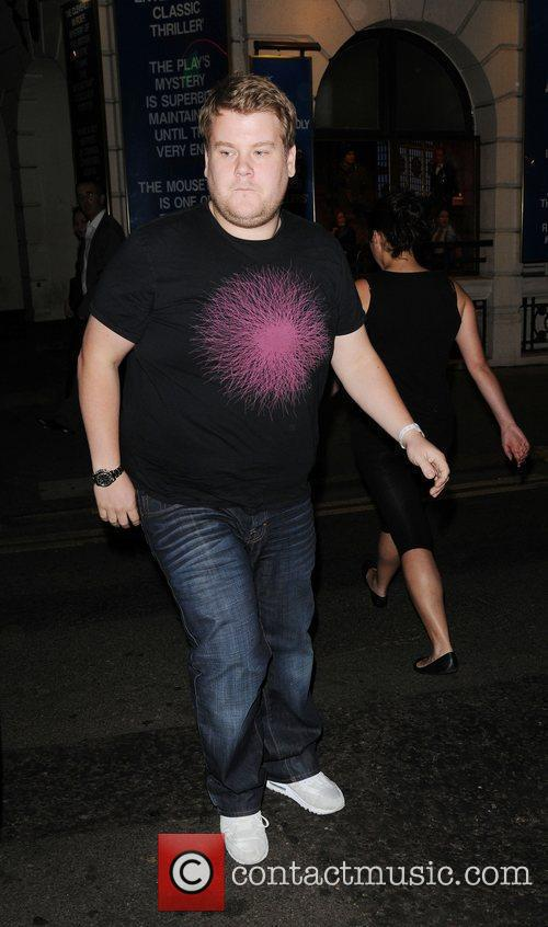 James Corden leaves the Ivy club
