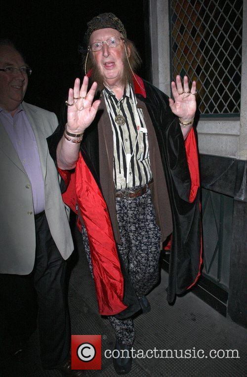 John McCririck arriving at the Ivy restaurant in...