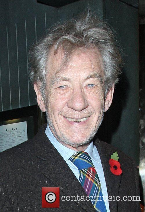 Sir Ian McKellen at the Ivy club. London,...