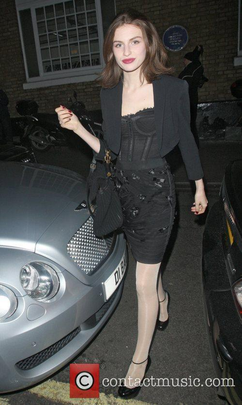 Tali Lennox at the Ivy club. London, England
