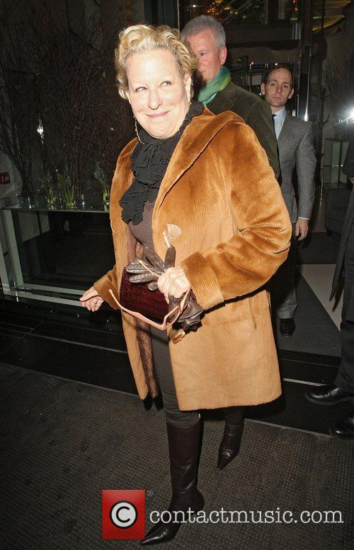 Bette Midler leaving the Ivy. London, England