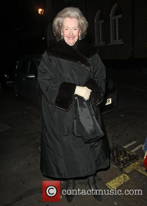 Countess Raine Spencer leaving the Ivy. London, England