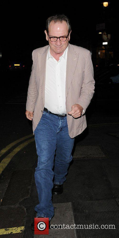 Tommy Lee Jones leaving the The Ivy Club...