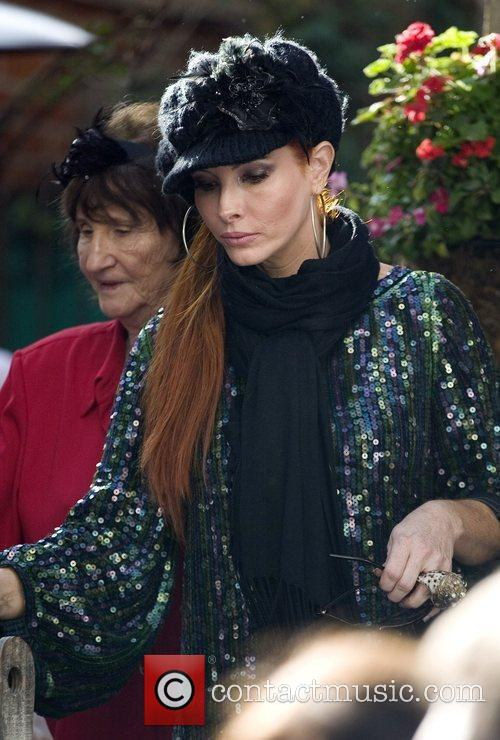 Phoebe Price leaves The Ivy on Robertson Boulevard...