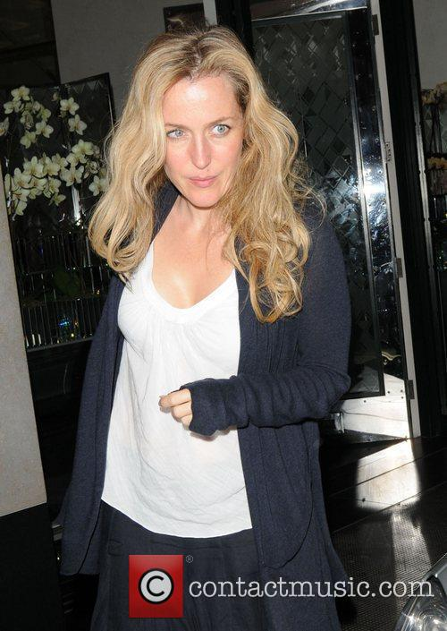 Gillian Anderson seen leaving The Ivy Club in...