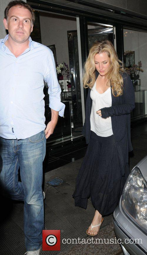 Gillian Anderson and Her Husband Mark Griffiths Seen Leaving The Ivy Club In London's West End 4