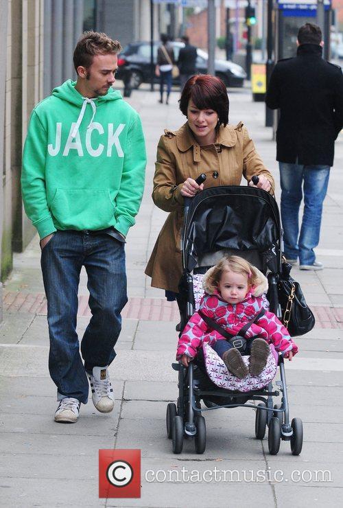 Jack P Shepherd and his girlfriend Lauren Shippey...