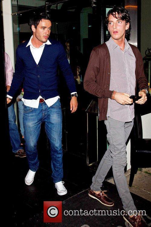 Jack Tweed and his brother Lewis leaving Sheesh...