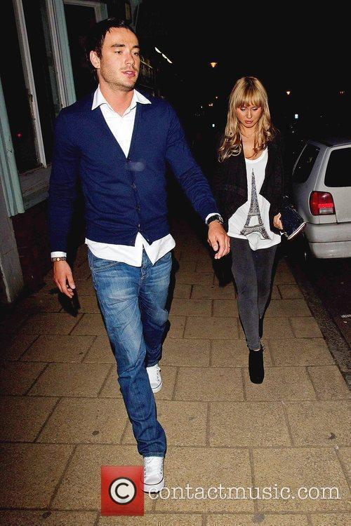 Jack Tweed and Chanelle Hayes leaving Sheesh restaurnat...