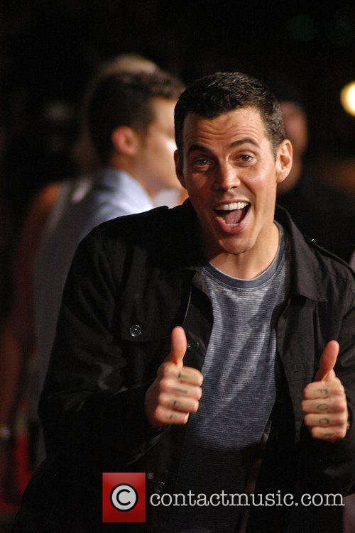 Steve-O Los Angeles Premiere of 'Jackass 3D' at...