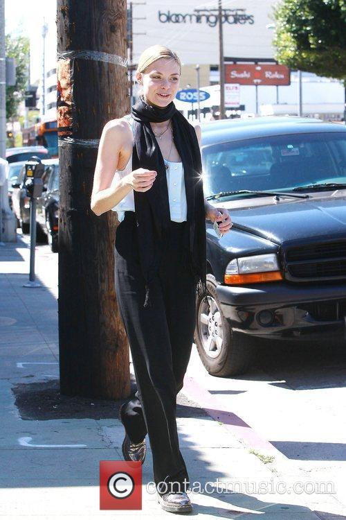 American actress and model Jaime King and her...