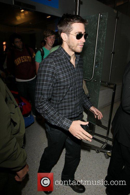 Jake Gyllenhaal arrives at LAX airport on a...