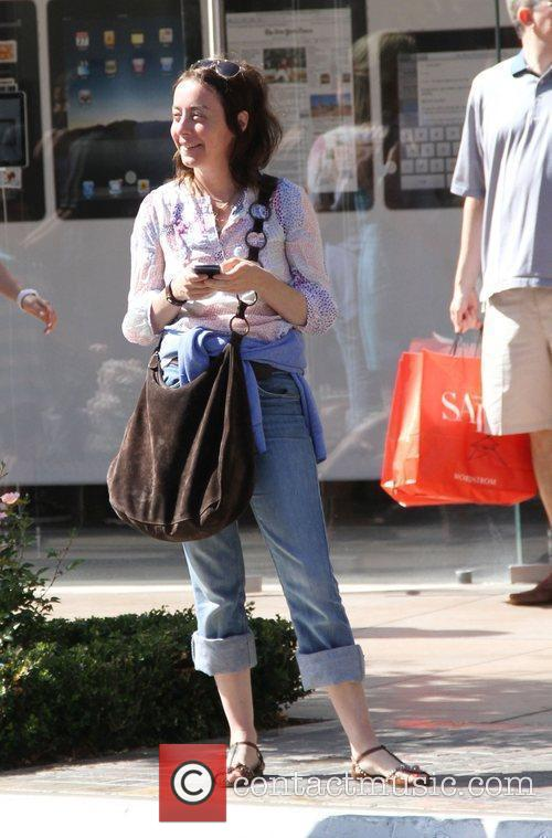 Jane Adams was spotted shopping with her family...