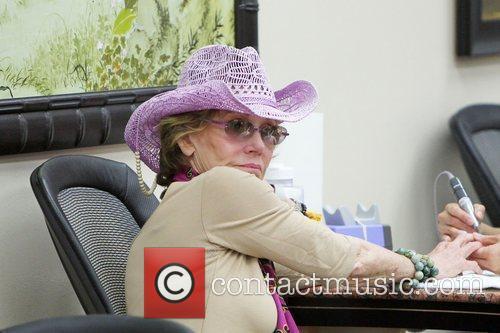 Jane Fonda seen getting her nails done on...