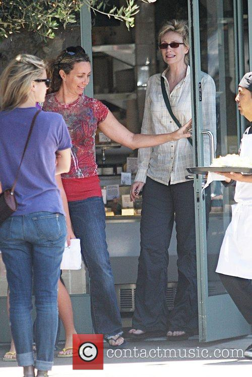 Jane Lynch was spotted with her family outside...