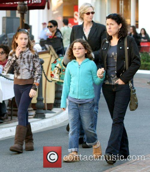 Jane Lynch (centre) shopping at The Grove in...