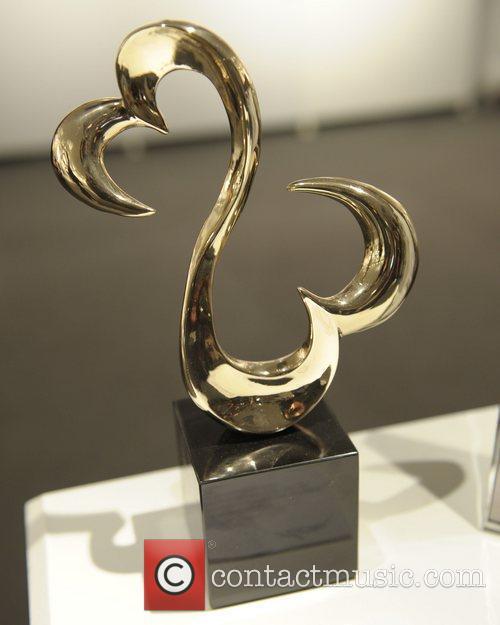 Sculpture titled 'Open Heart' by Jane Seymour...