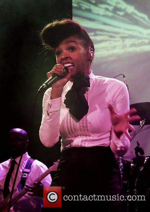 Janelle Monae performing at the Manchester Academy.