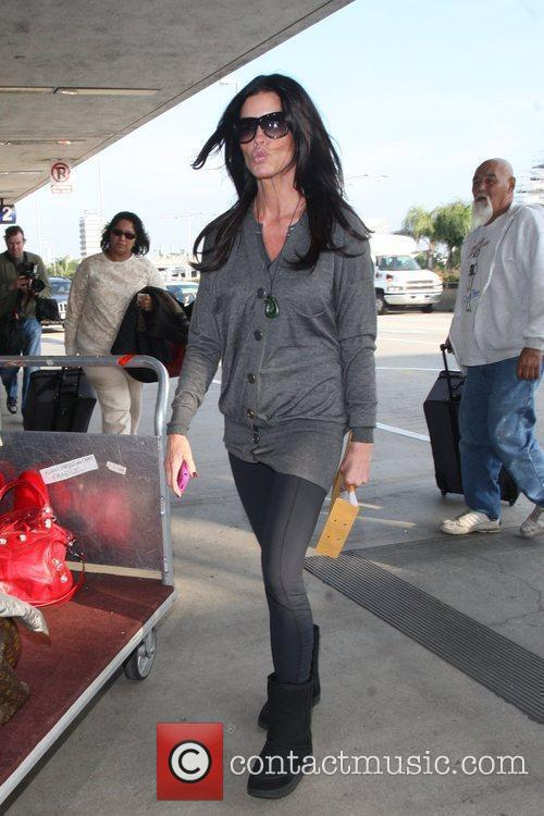 Janice Dickinson  arriving at LAX to catch...