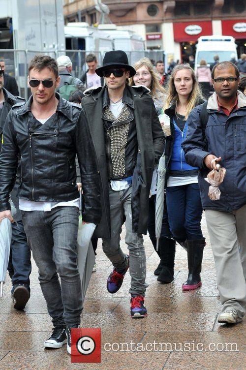 From the band '30 Seconds to Mars' arriving...