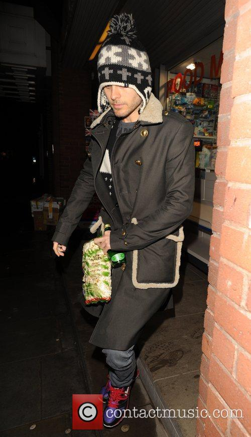 Jared Leto steps out of his London hotel...