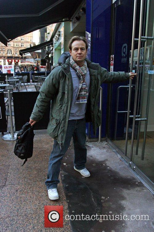 Jason Donovan  arriving at the Heart FM...