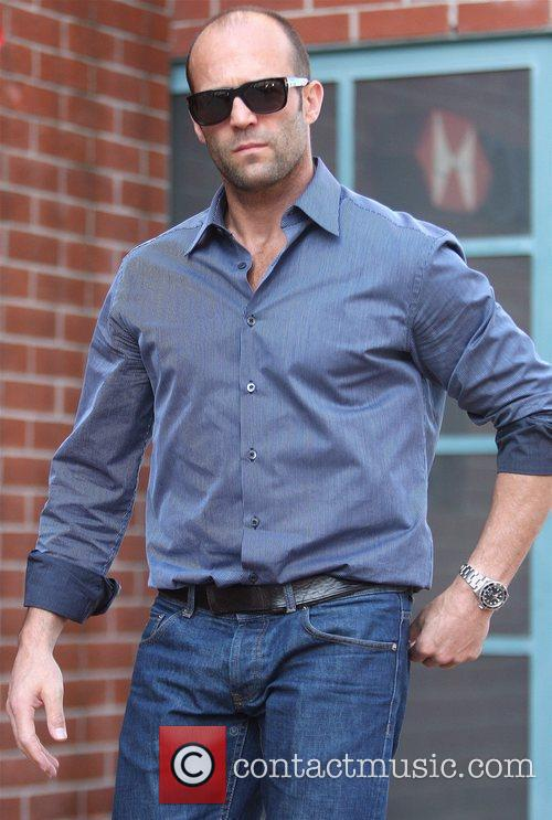 Jason Statham leaving a medical building in Beverly...