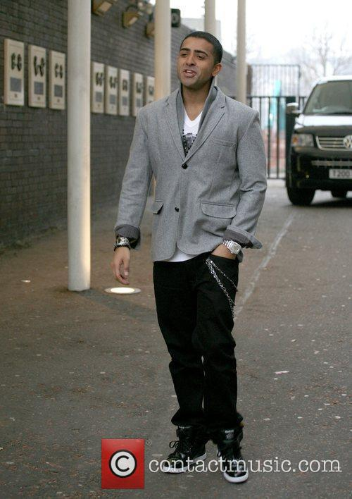 Leaving the London Studios after appearing on 'GMTV'