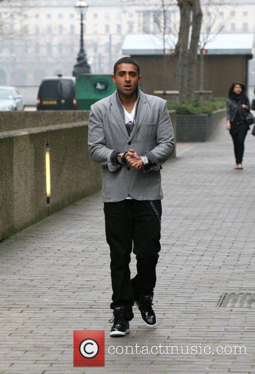 Singer Jay Sean leaving the London Studios after...