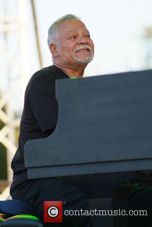 American pianist, keyboard player and composer Joe Sample...